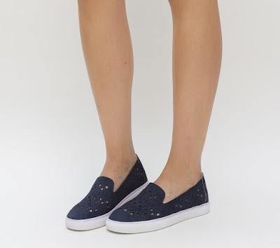 pantofi sport dama din piele eco intoarsa cu model