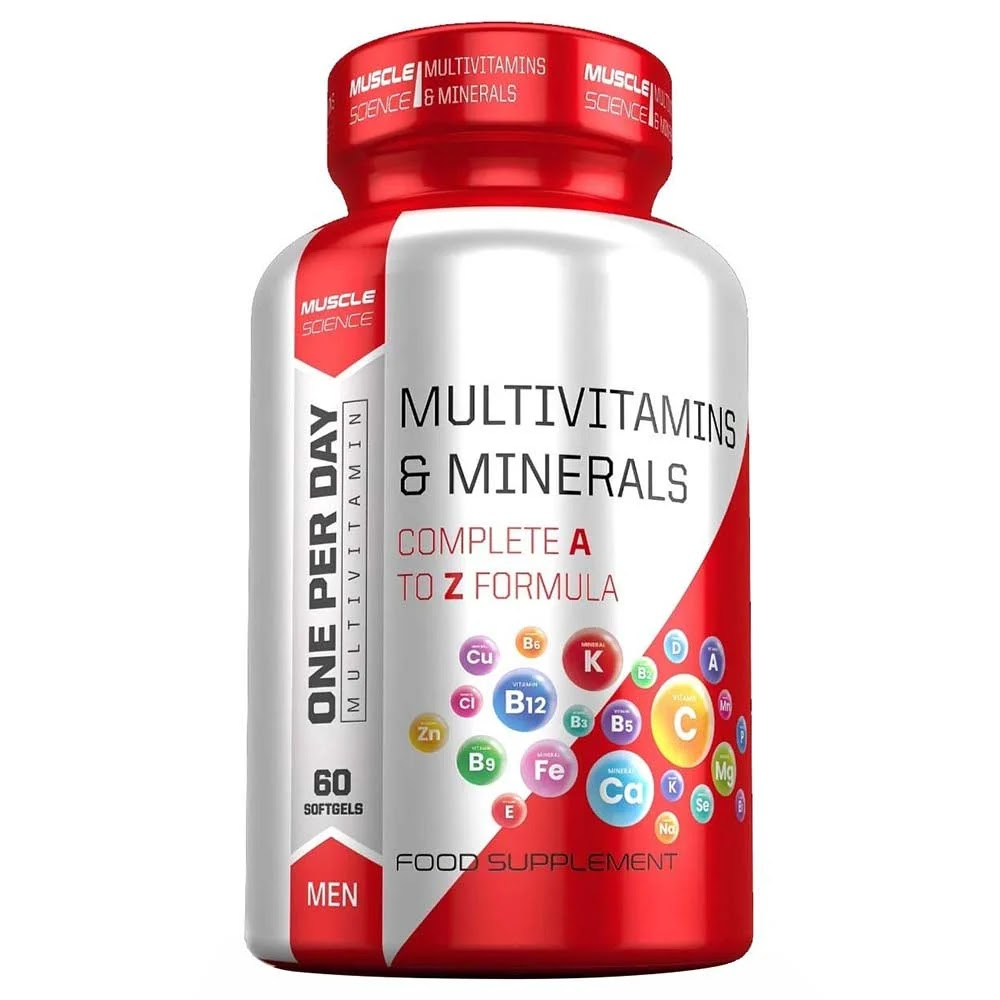 Muscle Science Men Multivitamin, 60 softgels, Unflavoured