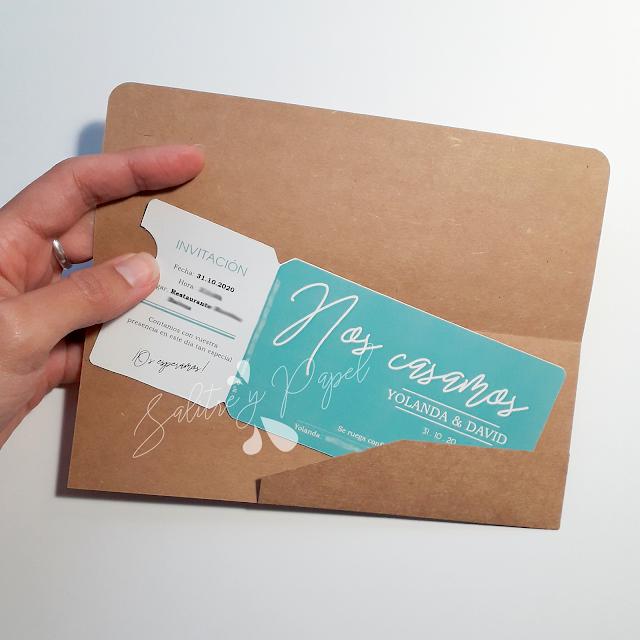 invitaciones de boda diseño como entrada de un evento personalizadas