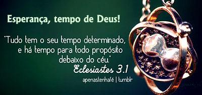 Esperança, tempo de Deus