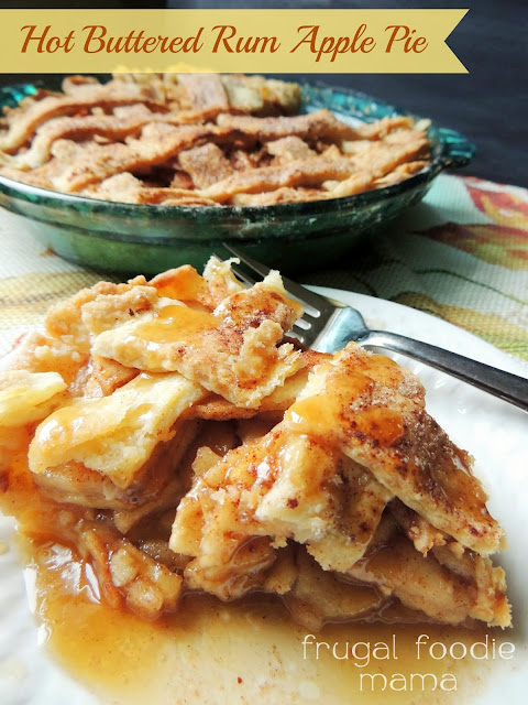Hot Buttered Rum Apple Pie | Frugal Foodie Mama