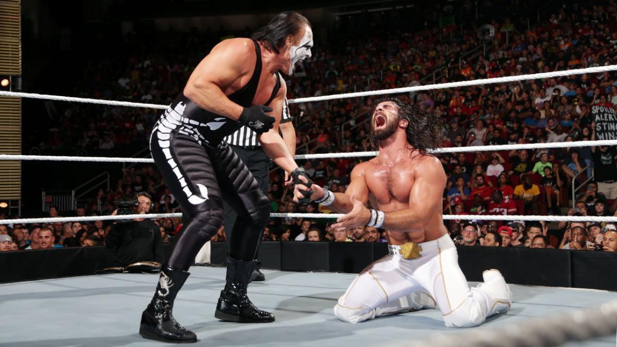 Por quê a WWE não interrompeu o combate entre Seth Rollins e Sting no Night of Champions de 2015?