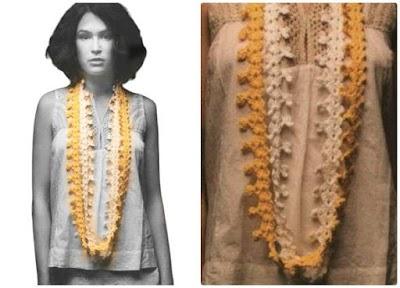 Collar guirnalda crochet con puntillas o bordes