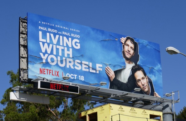 Paul Rudd Living With Yourself series billboard