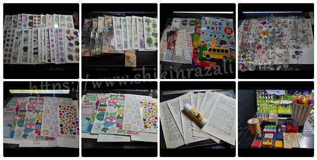 Accessories for bullet journal (www.shikinrazali.com)
