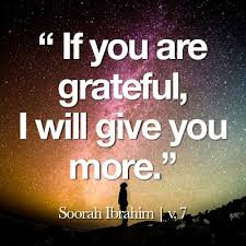 gratitude for every dua