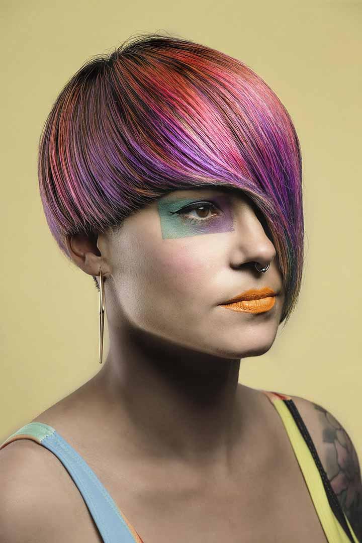 color de pelo rosa violeta 2020