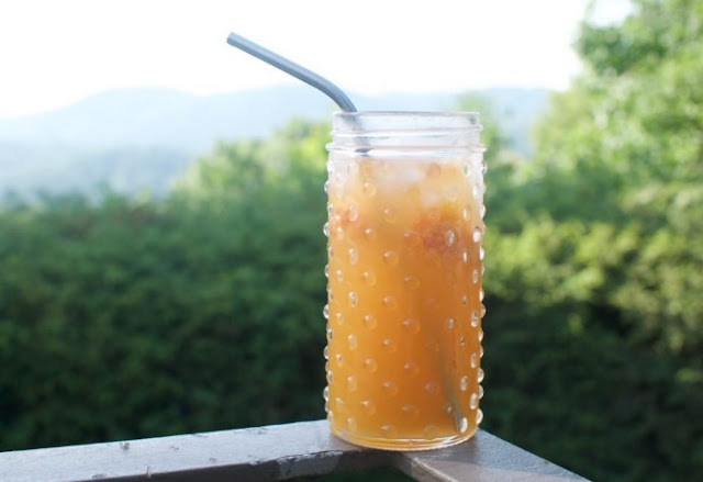 Ginger Peach Fizz #drinks #alcohol