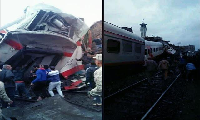 وزارة الصحة المصرية: 13 مصاب في حادث قطار في رمسيس جنوب البلاد