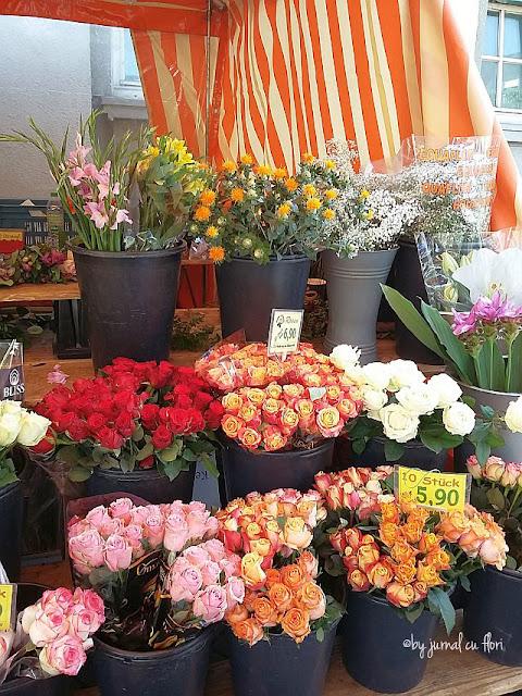 sortimente de flori in luna august in piata locala