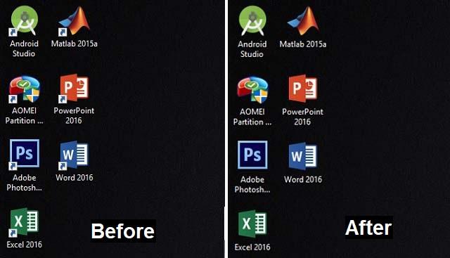 Cara menghilangkan tanda panah pada Shorcuts di Windows 3
