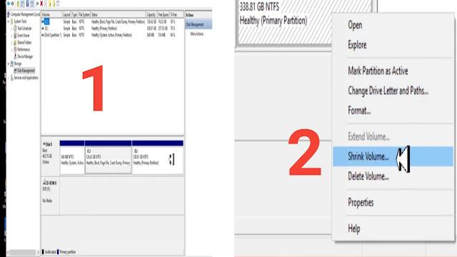 الطريقة الصحيحة لتقسيم الهارديسك بدون برامج من داخل الويندوز