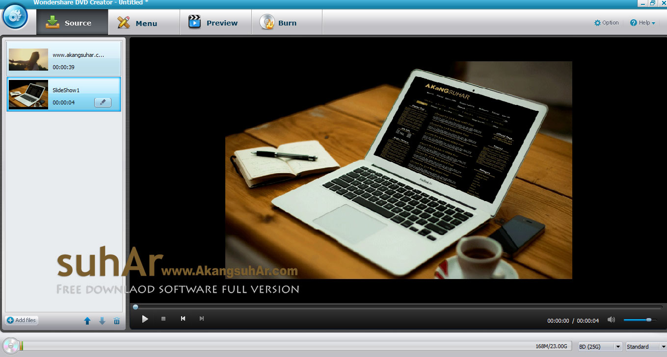 Free download Wondershare DVD Creator Full version terbaru