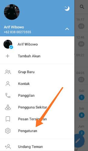 Pengaturan Telegram