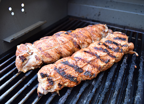 The Saber Grill creates juicy and delicious pork tenderloins.