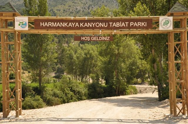Harmankaya kanyonu ve tabiat parkı