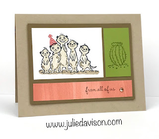 Stampin' Up! Sale-a-Bration 2020 The Gang's All Meer Birthday Card ~ www.juliedavison.com
