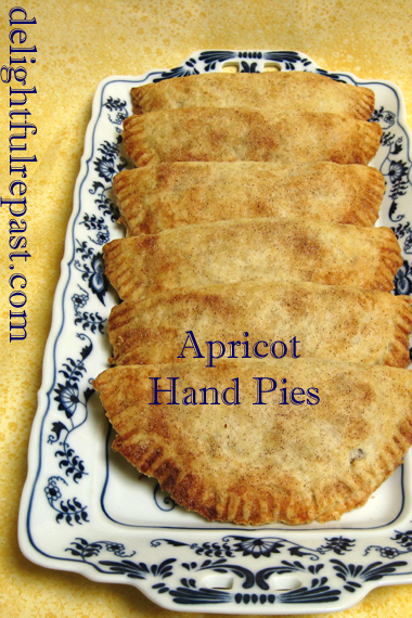 Apricot Hand Pies - Apricot Turnovers / www.delightfulrepast.com