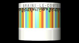 Image de bandes colorées verticales sur un cylindre