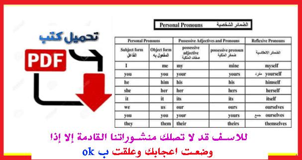 قواعد اللغة الإنجليزية PDF في 15 صفحة جاهزة للتحميل