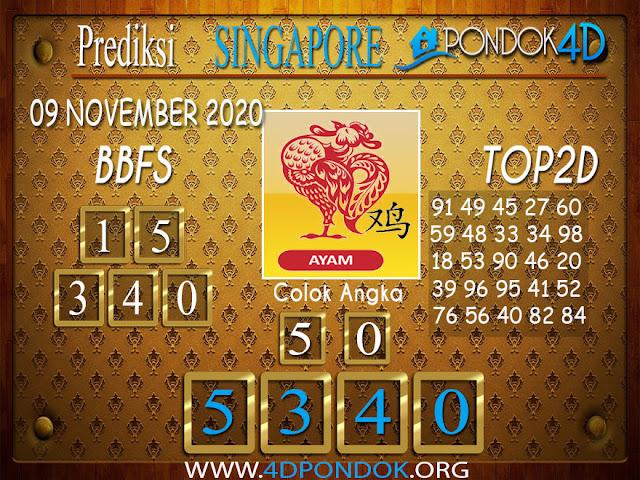 Prediksi Togel SINGAPORE PONDOK4D 09 NOVEMBER 2020