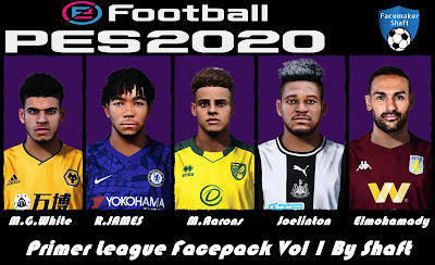 PES 2020 Premier League Facepack vol 1 by Shaft