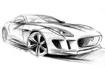 Gambar mobil keren sketsa