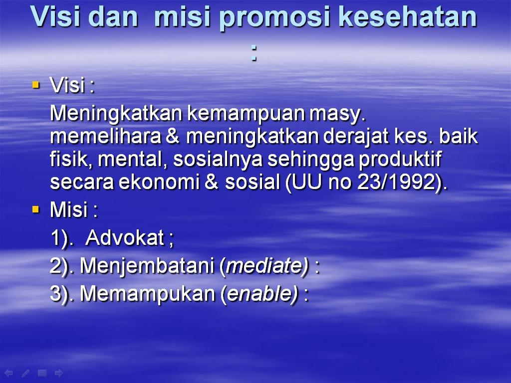 PROMOSI KESEHATAN - PowerPoint PPT Presentation