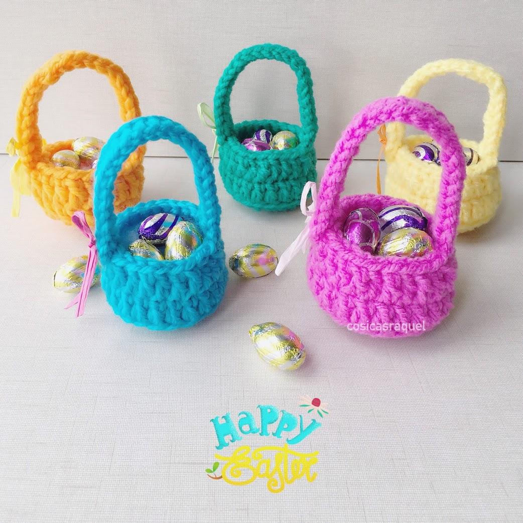 Mini Cestas Crochet de Pascua - Handbox Craft Lovers | Comunidad DIY ...