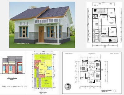 sketsa rumah minimalis 3 kamar tidur