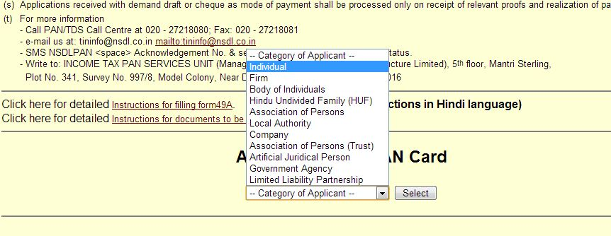 how to apply for pan card online application download and