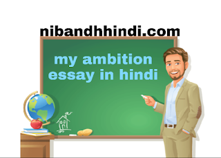Essay on My Ambition in Life in Hindi