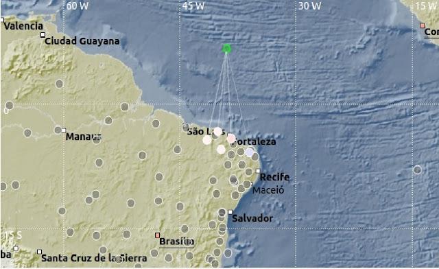 Tremor de terra de magnitude 3.5 é sentido em dois Estados do Nordeste