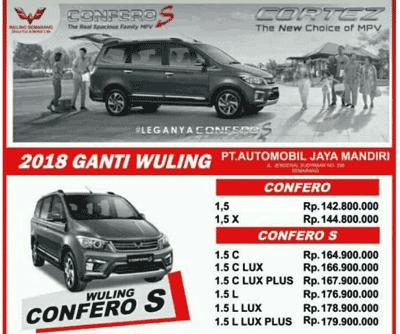 Harga Mobil Wuling Confero di Semarang