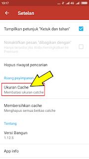 Langkah langkah menyetel cache pada berkas manager android