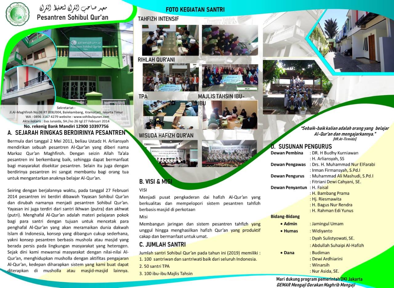 Profil Yayasan Sohibul Qur'an