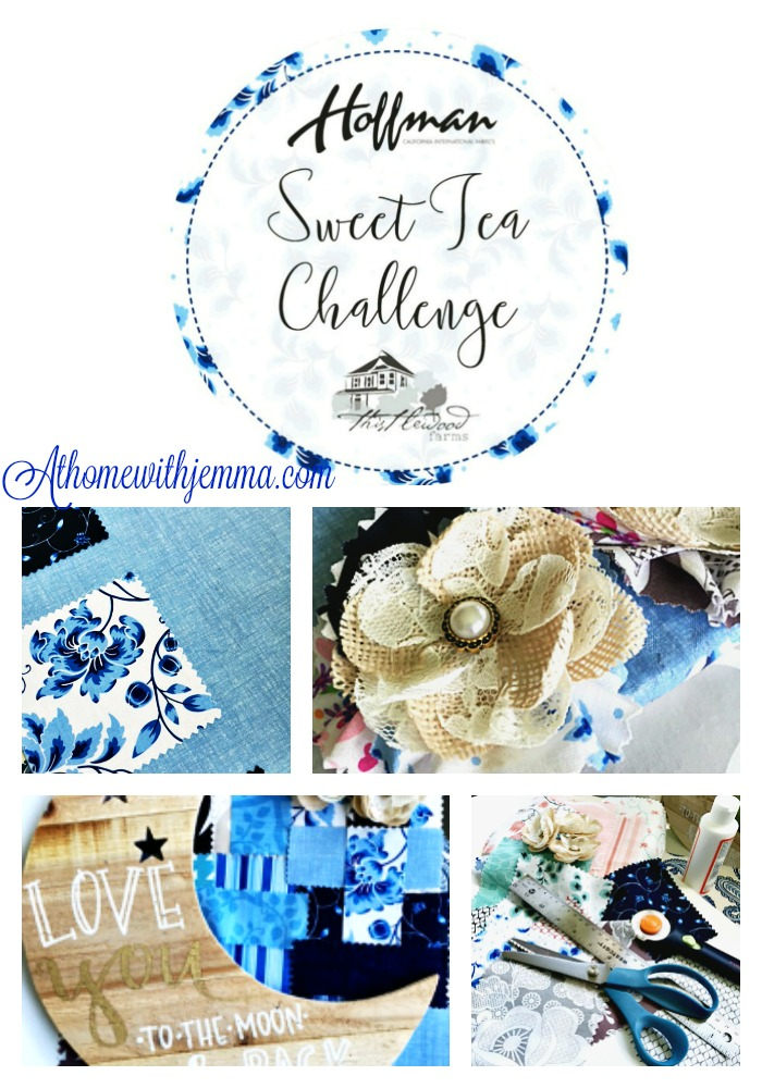 blogger challenge, Thistlewood Farms, Hoffman fabric, at home with jemma