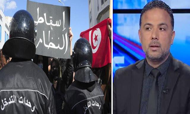 سيف الدين مخلوف يهدد المتظاهرين في مسيرات يوم 25 جويلية