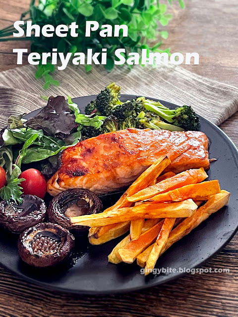 One Sheet Pan Teriyaki Salmon With Broccoli