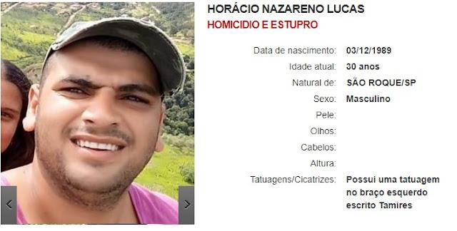 Horácio Nazareno Lucas - Homicídio e estupro
