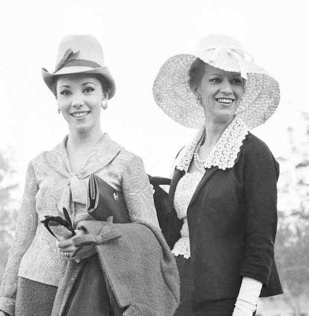 mulheres no Jockey Club em 1964