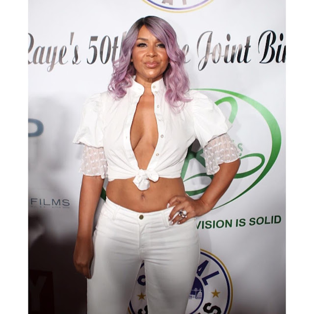 Oh my! Check out the outfit Lisa Raye McCoy wore to her 50th birthday party (photos)