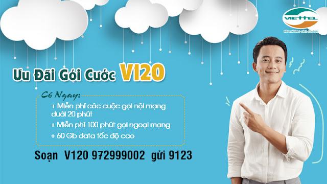 gói cước 4G V120 Viettel