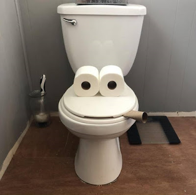 Spassbilder zum lachen - Klo mit Gesicht