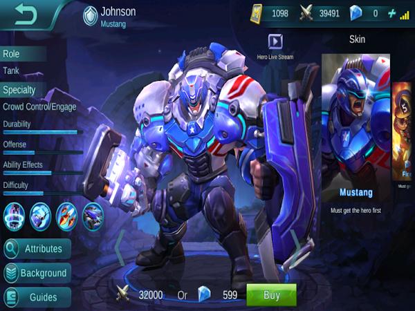 Mobile Legends: Bang Bang Johnson Skin Hilesi
