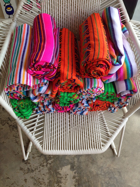 colourful blankets in Sayulita Mexico