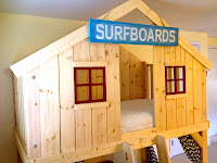 diy clubhouse fort bed with window grids