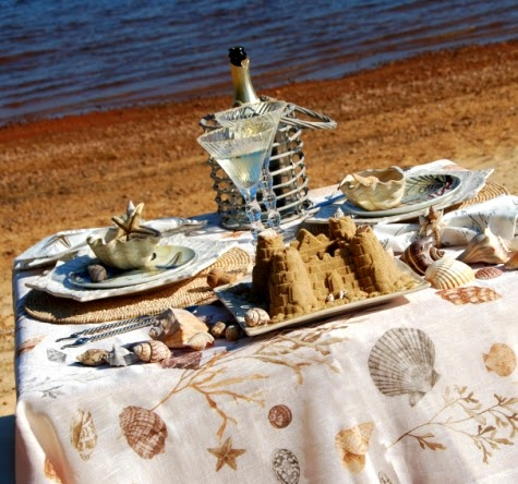 beach theme table