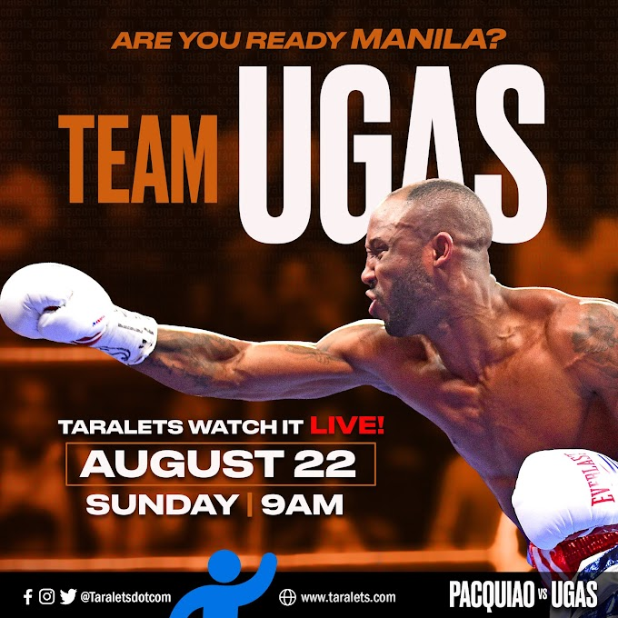 Pacquiao vs Ugas LIVE at 9AM (PH Time) Sunday