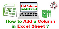 How to Add a Column in Excel Sheet?